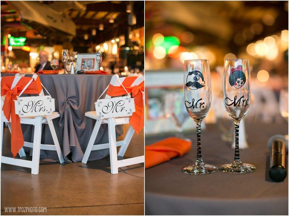 Orioles themed wedding