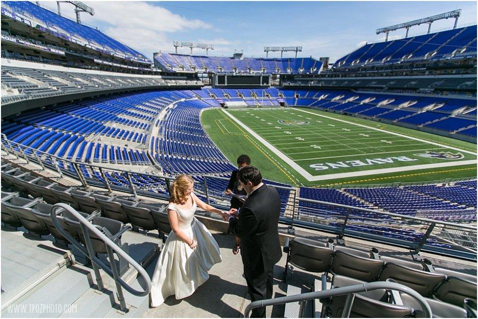 Ravens Stadium Wedding Elopement