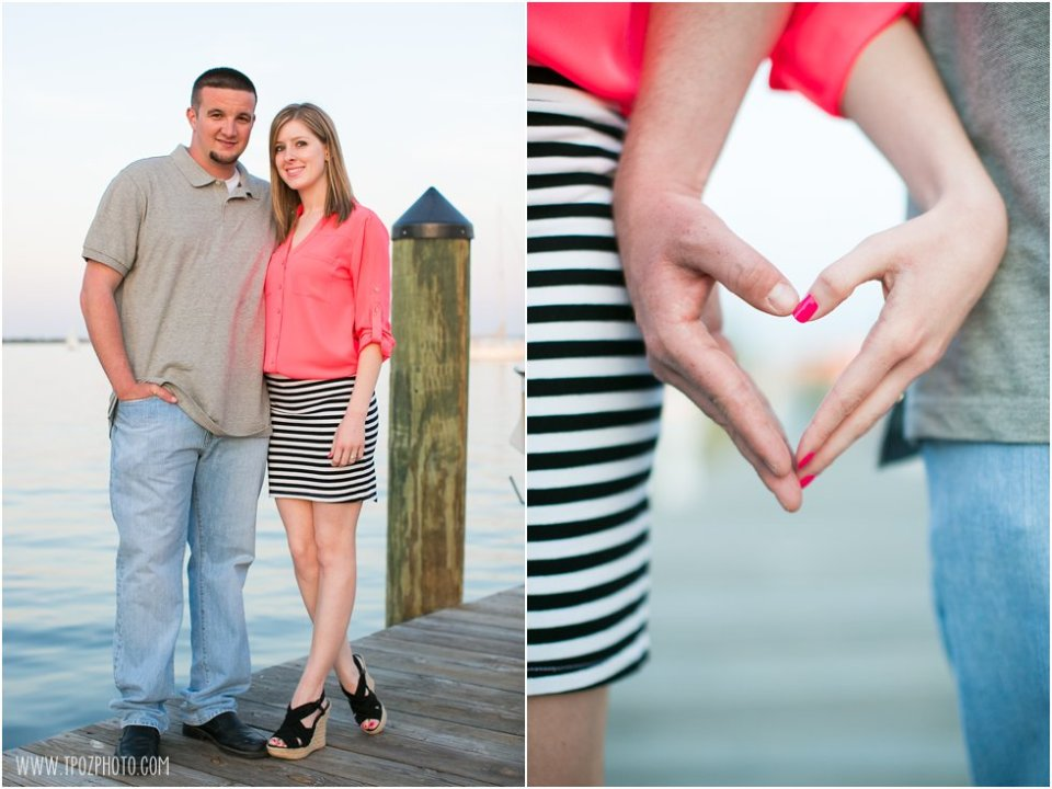 Annapolis Engagement Session - hand hearts