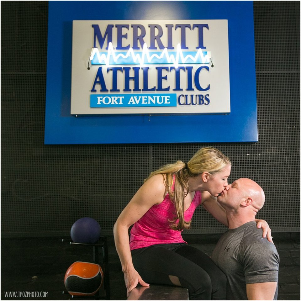 Engagement Session at the Gym