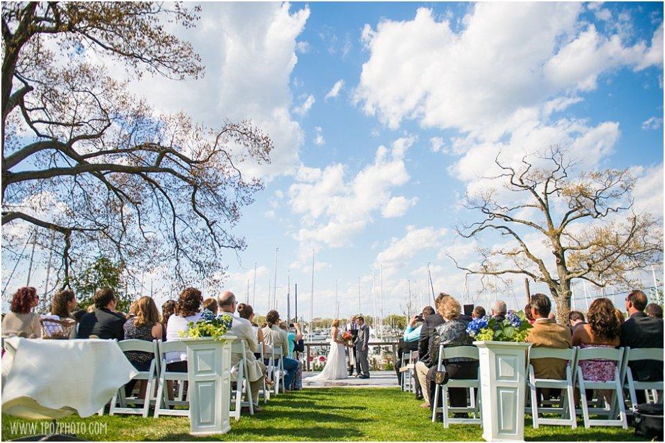Port Annapolis Marina Wedding Ceremony • tPoz Photography • www.tpozphoto.com