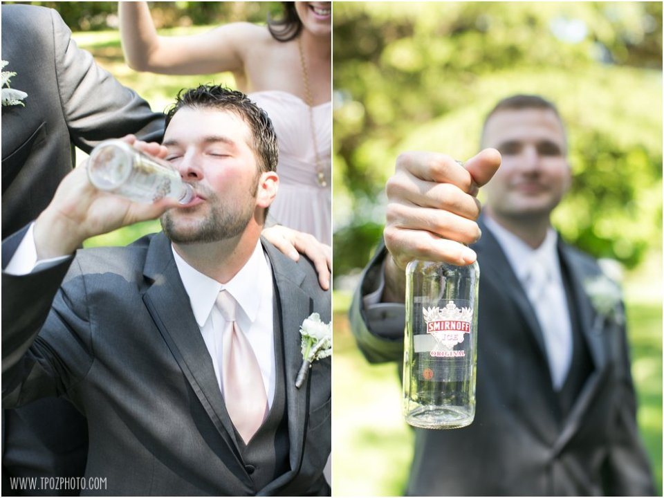 Groomsmen getting iced at the Elk Manor Winery  •  tPoz Photography  •  www.tpozphoto.com