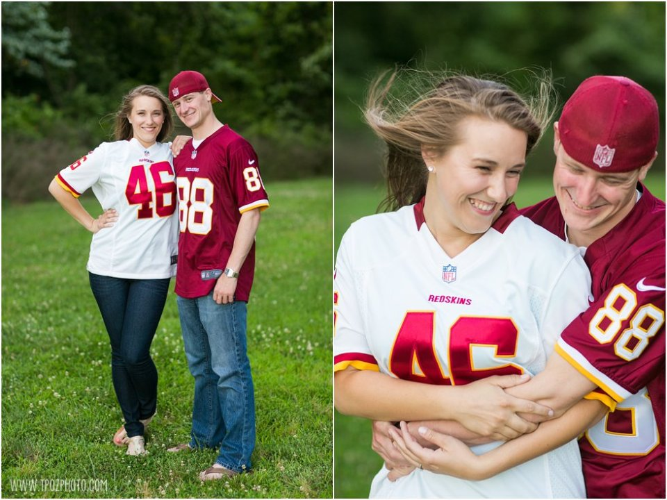 Redskins fans - Quiet Waters Engagement Photos  •  tPoz Photography  •  www.tpozphoto.com