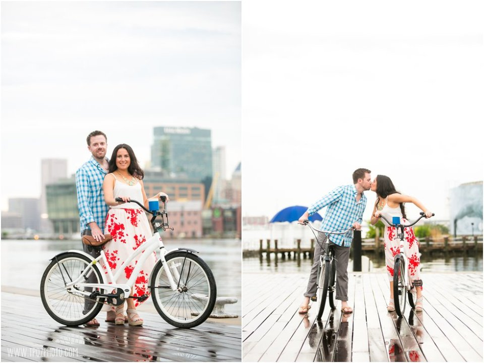 Love on a Bicycle - Tide Point Engagement Photos •  tPoz Photography  •  www.tpozphoto.com