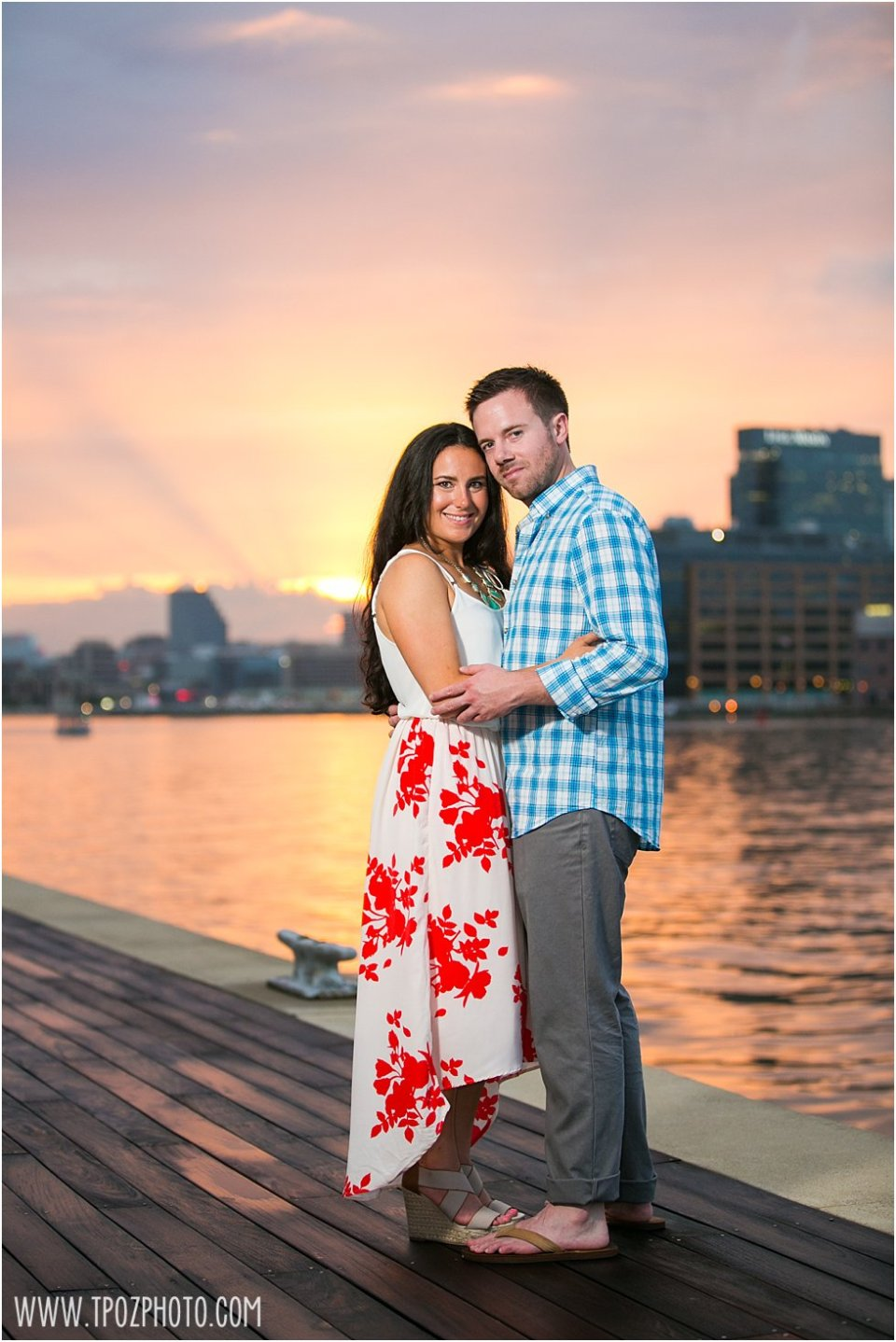 Sunset Tide Point Engagement Photos •  tPoz Photography  •  www.tpozphoto.com