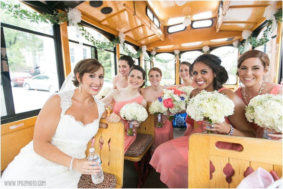 Wedding Trolley Annapolis  •  tPoz Photography  •  www.tpozphoto.com