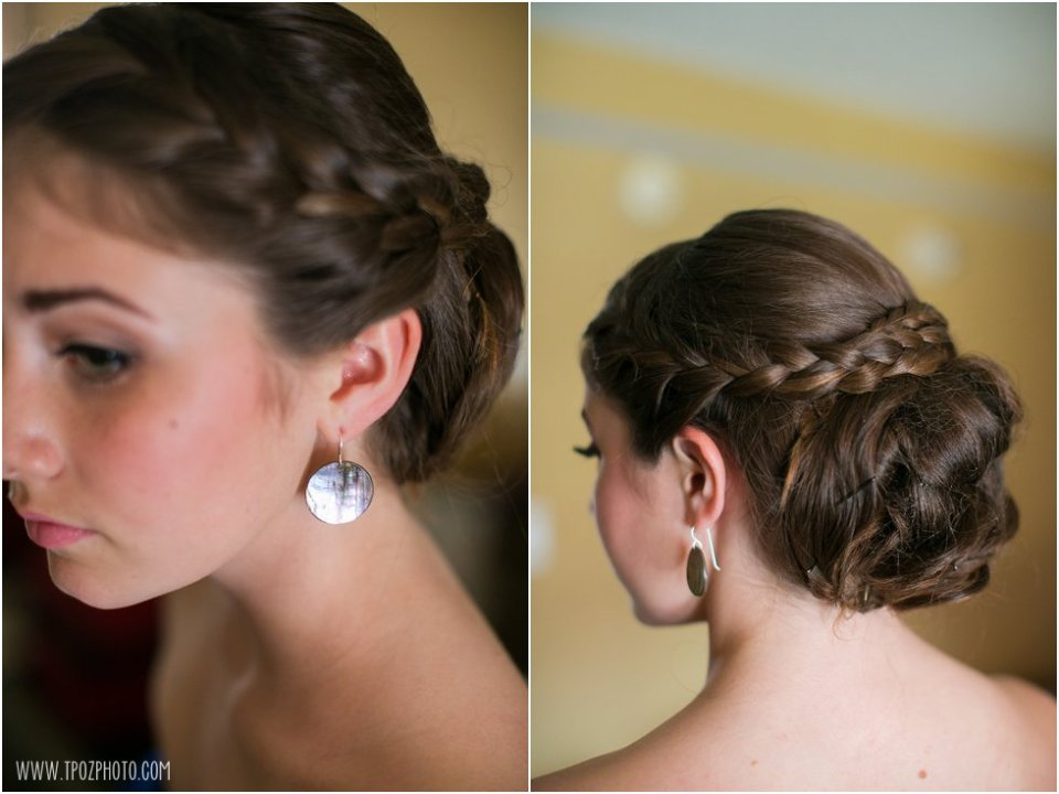 Bridesmaid updo hairstyle - Pier 5 Hotel Wedding Photos •  tPoz Photography  •  www.tpozphoto.com