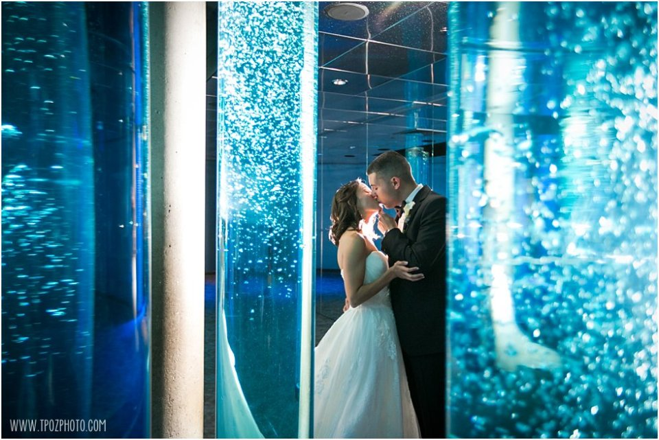 Baltimore Aquarium Wedding Photos •  tPoz Photography  •  www.tpozphoto.com