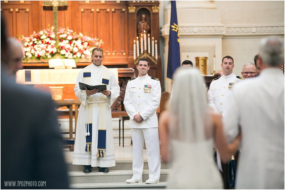 Naval Academy Wedding Ceremony Photos • tPoz Photography • www.tpozphoto.com