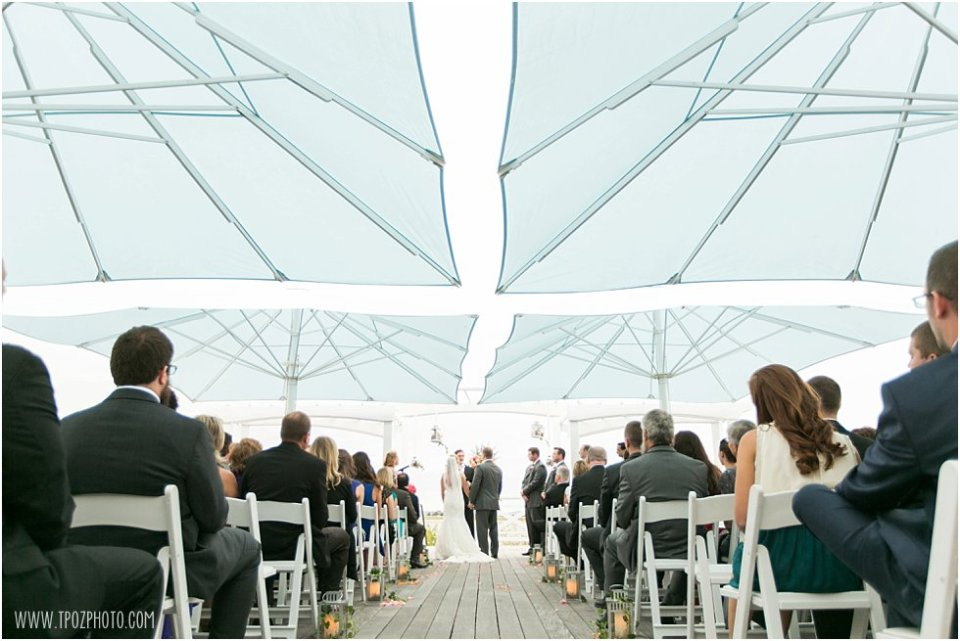 Wedding Ceremony at the Chesapeake Bay Beach Club - Rooftop Deck   •  tPoz Photography  •  www.tpozphoto.com