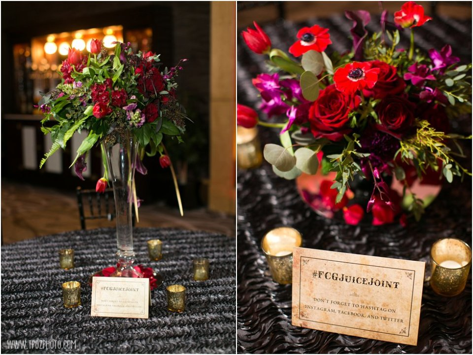 Moore & Co Event Stylists - Speakeasy Theme Holiday Party at The Hotel at Arundel Preserve • tPoz Photography - Baltimore Wedding Photographer • www.tpozphoto.com