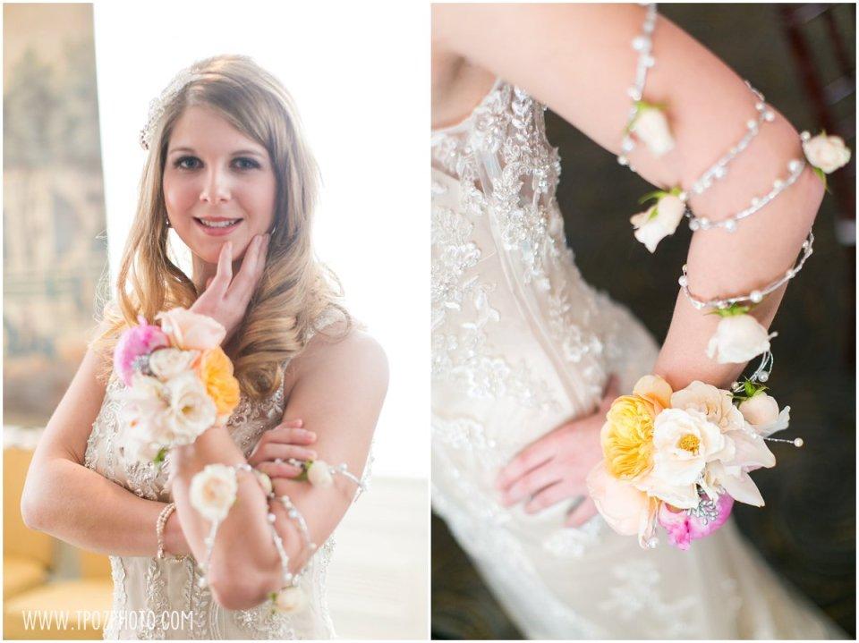 K&B Bridals // Moore & Co Event Stylists  //  Blush Floral Design  //  Faye Daniel Designs - Baltimore Bride Aisle Style January 2015  •  tPoz Photography  •  www.tpozphoto.com