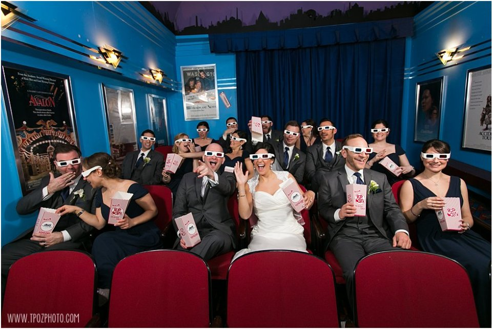 Baltimore Museum of Industry Movie Theater Wedding Party