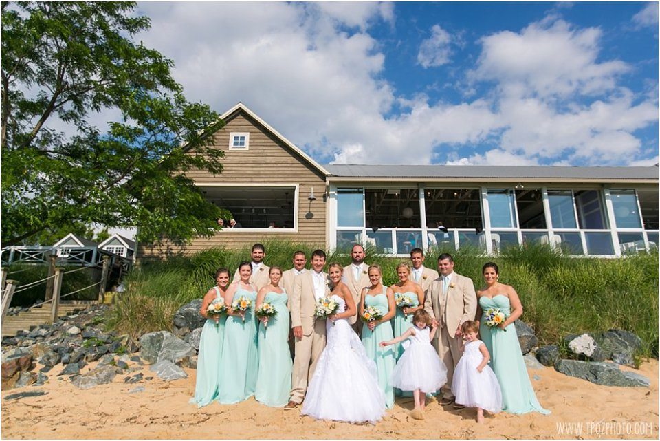 Chesapeake Bay Beach Club Wedding Bridal Party • tPoz Photography •  www.tpozphoto.com