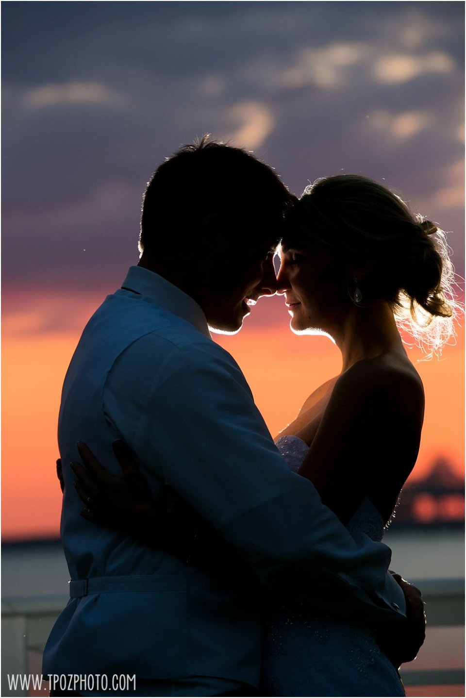 Sunset Wedding at the Chesapeake Bay Beach Club • tPoz Photography • www.tpozphoto.com