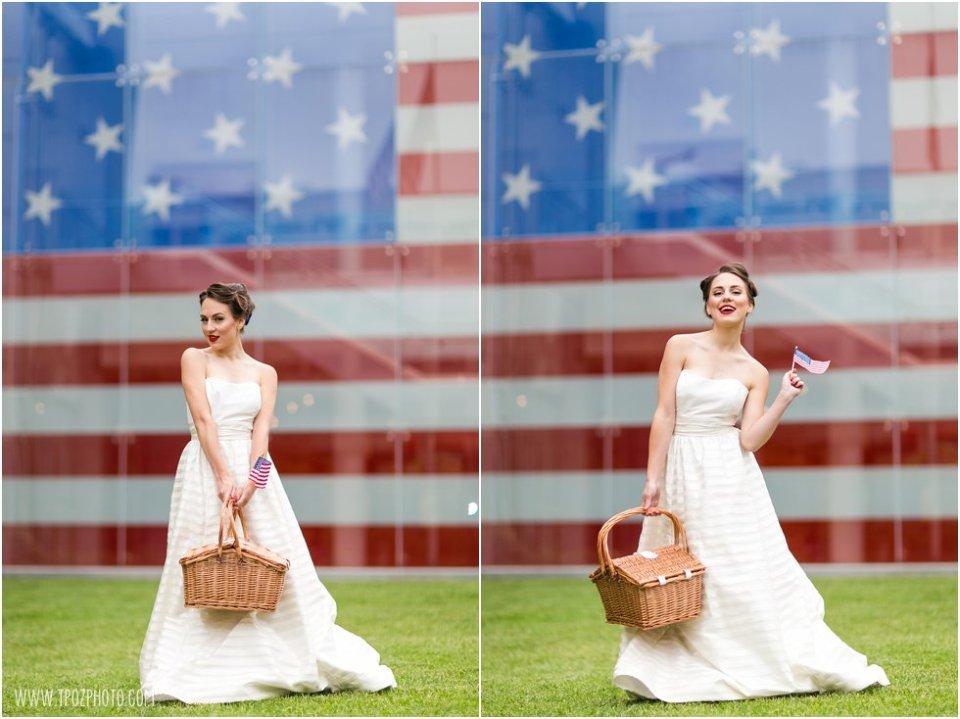 Star Spangled Banner Flag House wedding inspiration • tPoz Photography • www.tpozphoto.com