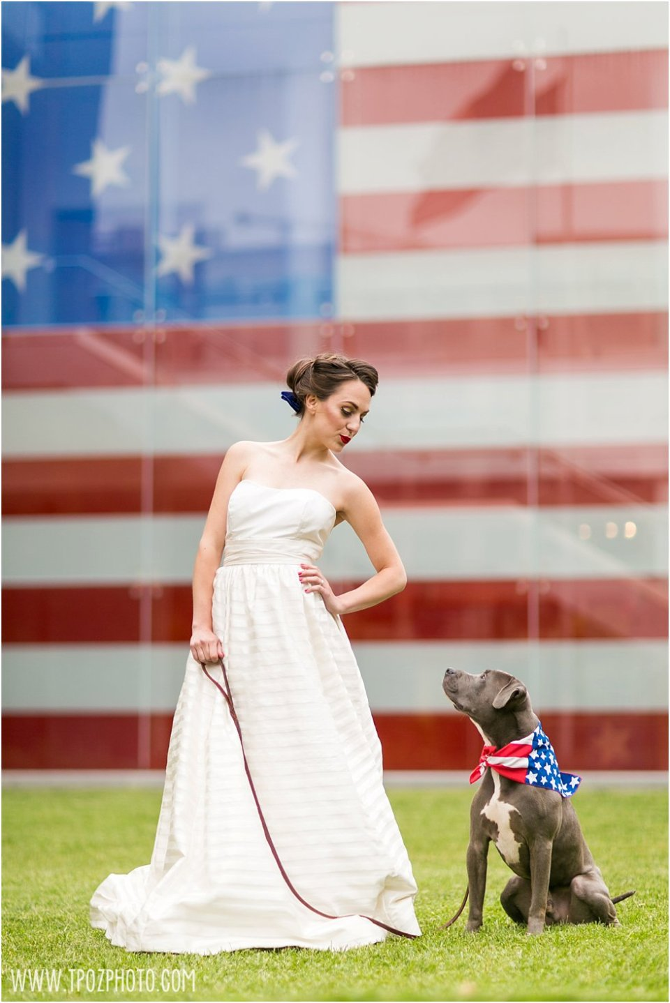 Star Spangled Banner Flag House wedding inspiration •  tPoz Photography • www.tpozphoto.com