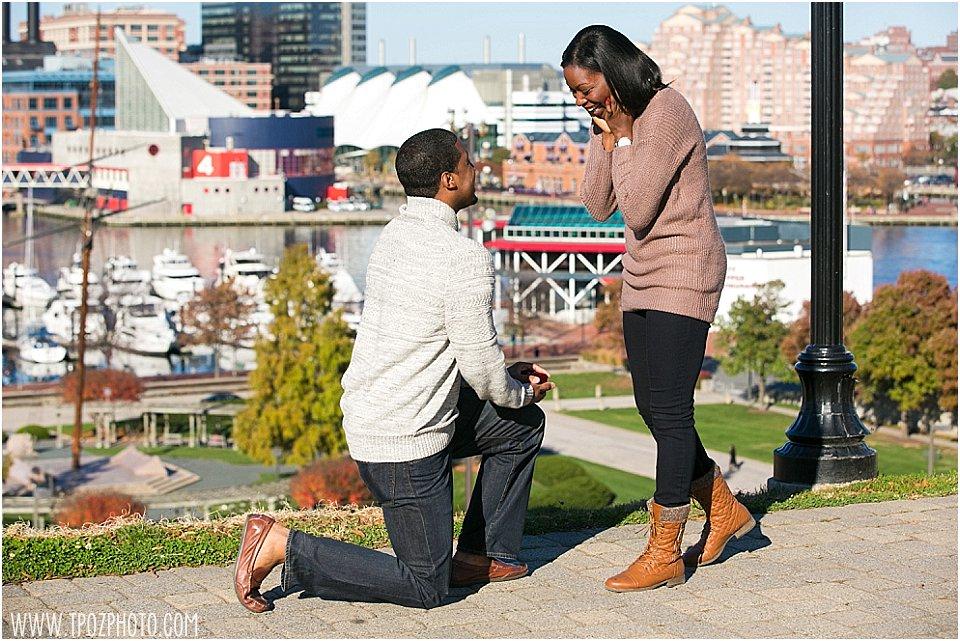 Federal Hill Engagement Proposal || tPoz Photography || www.tpozphoto.com