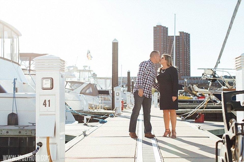 Baltimore Harbor Engagement || tPoz Photography || www.tpozphoto.com
