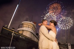 Baltimore Museum of Industry wedding fireworks
