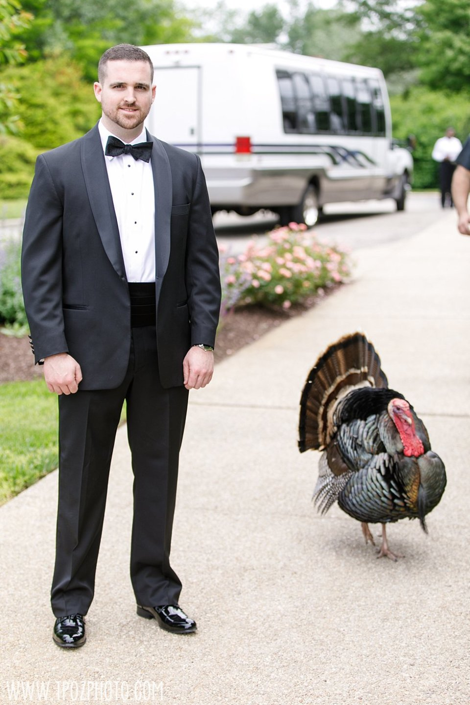 Tom the Turkey at Kent Manor Inn Wedding • tPoz Photography