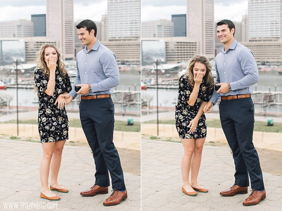 Engagement Proposal on Federal Hill Park || tPoz Photography || www.tpozphoto.com