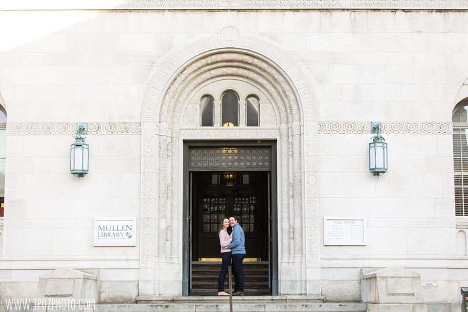 Catholic University of America Engagement Session || tPoz Photography || www.tpozphoto.com