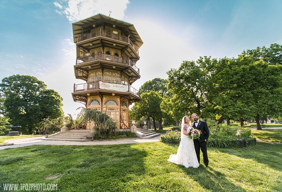 Patterson Park Pagoda Wedding Portraits || tPoz Photography || www.tpozphoto.com
