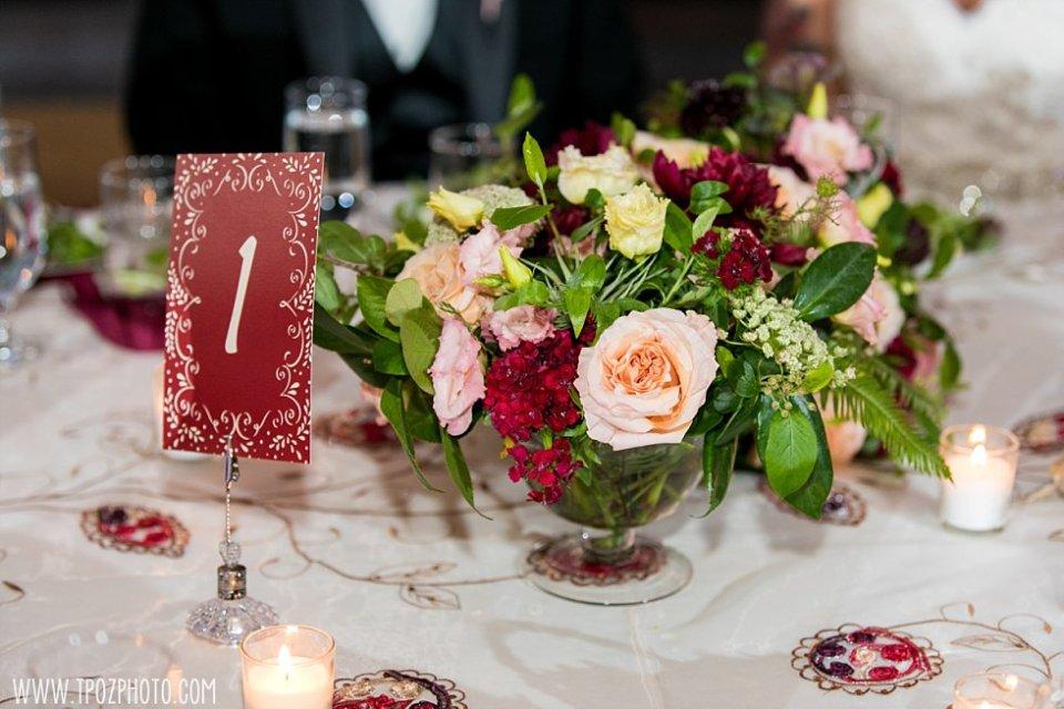 Crimson & Clover Florals at a Chase Court Wedding || tPoz Photography || www.tpozphoto.com