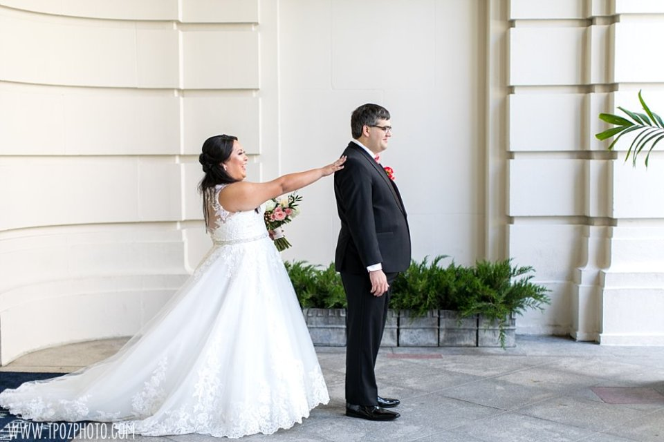 First Look - Wedding at The Willard  •  tPoz Photography  •  www.tpozphoto.com