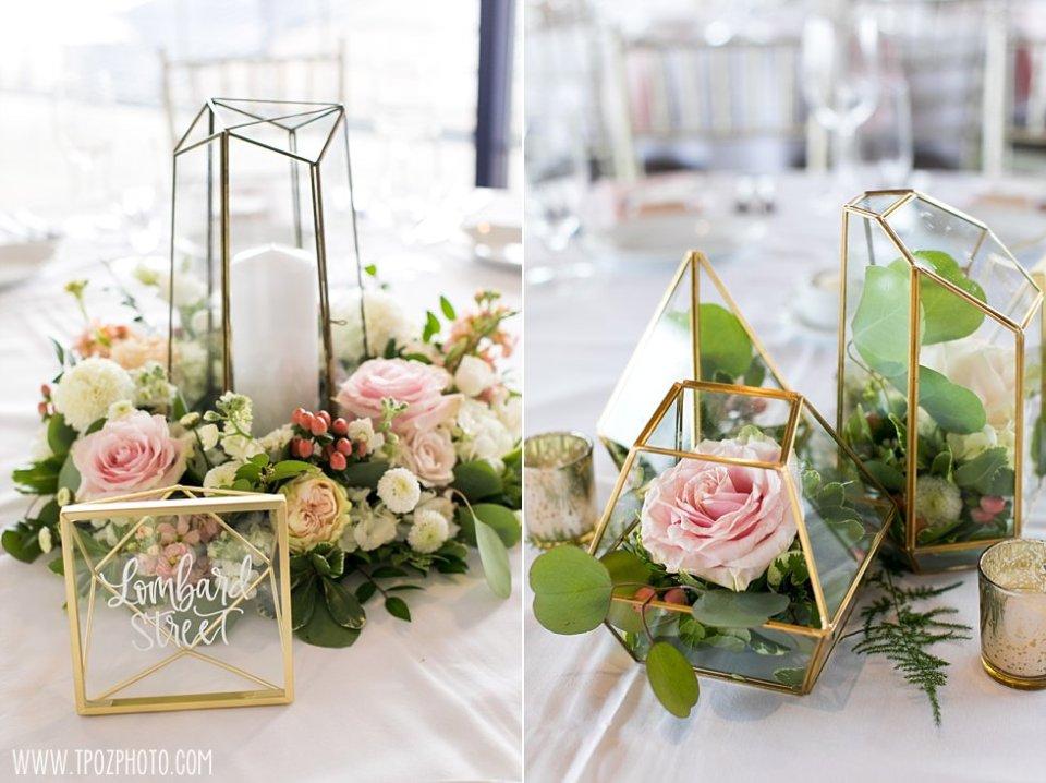 Pier 5 Wedding florals by Blush Floral Designs  • tPoz Photography  •  www.tpozphoto.com