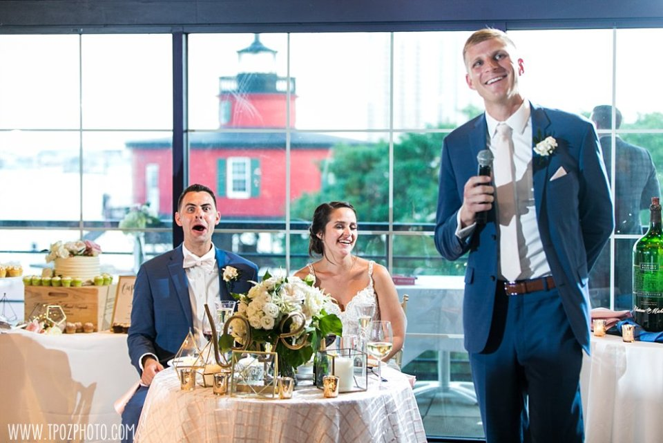 Best Man speech at Pier 5 Wedding •  tPoz Photography  •  www.tpozphoto.com