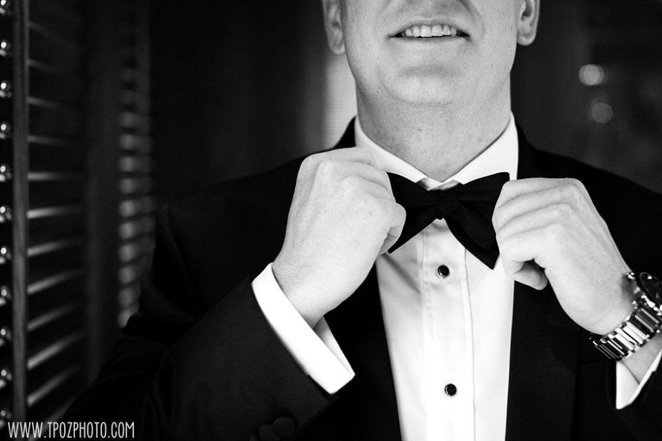 Groom's bow tie • tPoz Photography • www.tpozphoto.com