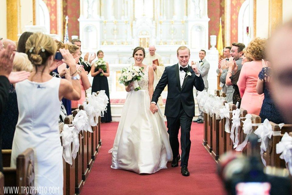 Sacred Heart of Jesus Church Wedding Ceremony in Baltimore, MD • tPoz Photography • www.tpozphoto.com