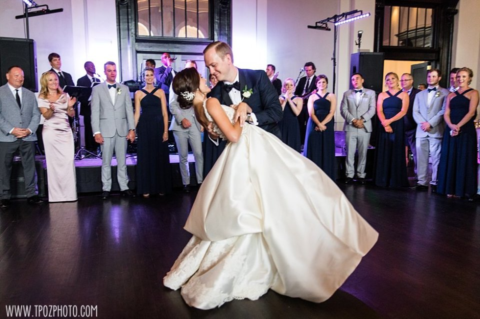 Sagamore Pendry Wedding Reception First Dance •  tPoz Photography • www.tpozphoto.com