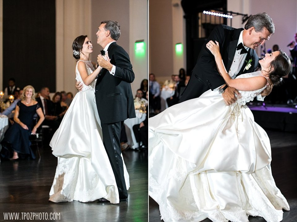 Sagamore Pendry Wedding Reception Father Daughter Dance •  tPoz Photography • www.tpozphoto.com