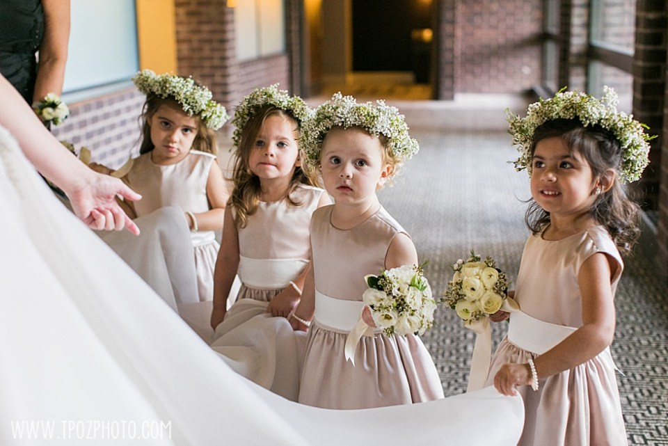 Greek Baltimore wedding flower girl photos • tPoz Photography  • www.tpozphoto.com