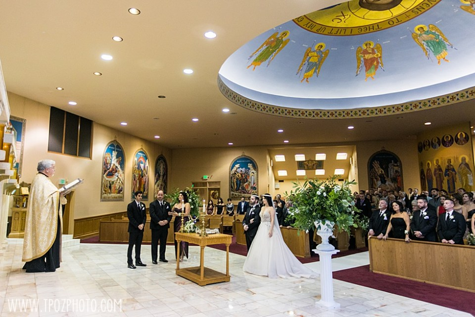 St. Demetrios Greek Orthodox Church wedding ceremony • tPoz Photography  • www.tpozphoto.com