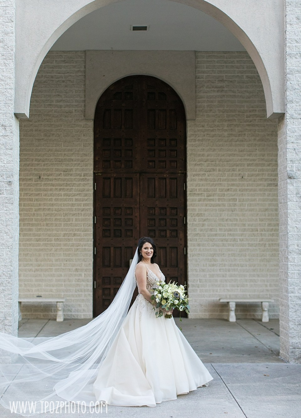 Beautiful bride at her St. Demetrios Greek Orthodox Church wedding  • tPoz Photography  • www.tpozphoto.com