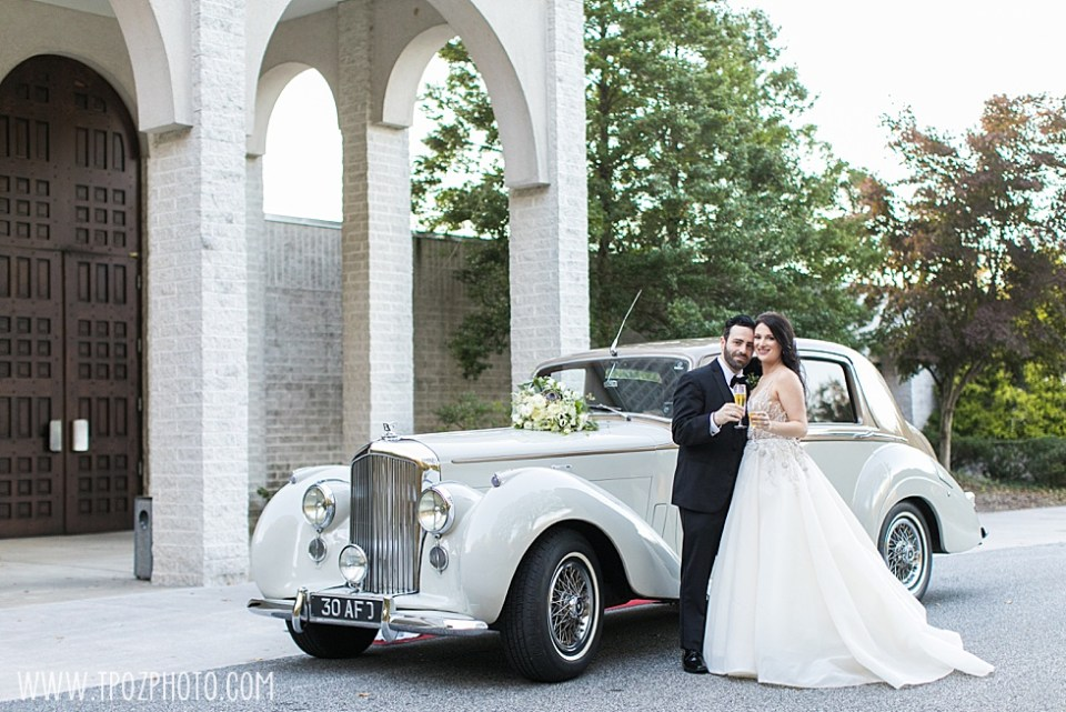 White Bentley from Lasting Impressions at a Baltimore Wedding at St. Demetrios Greek Orthodox Church • tPoz Photography  • www.tpozphoto.com