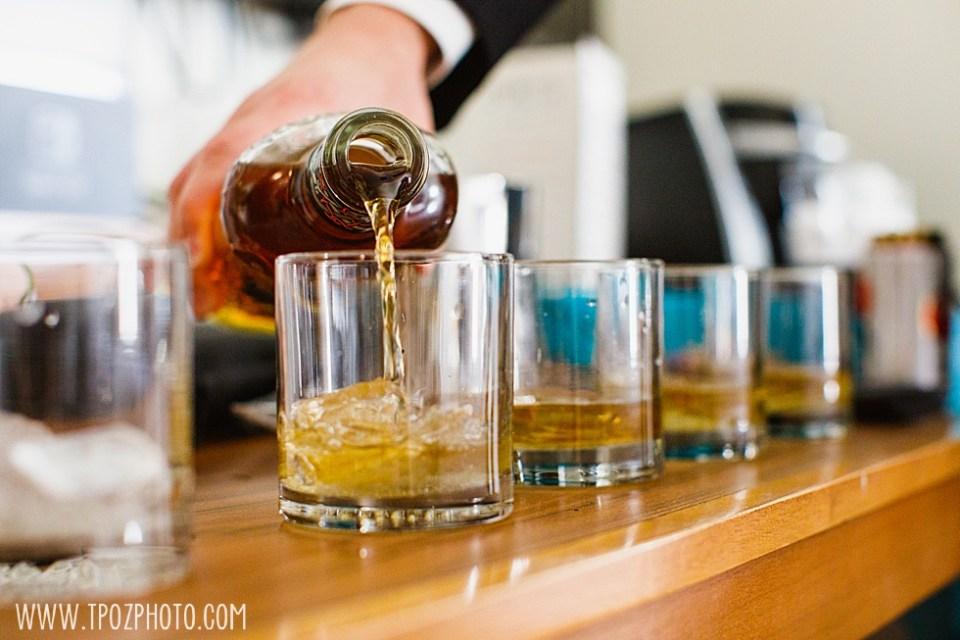 Bourbon pouring