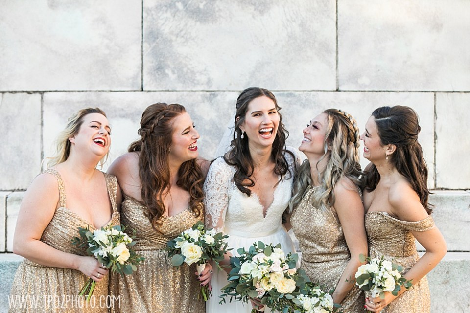 Bridesmaids laughing  •  tPoz Photography •  www.tpozphoto.com