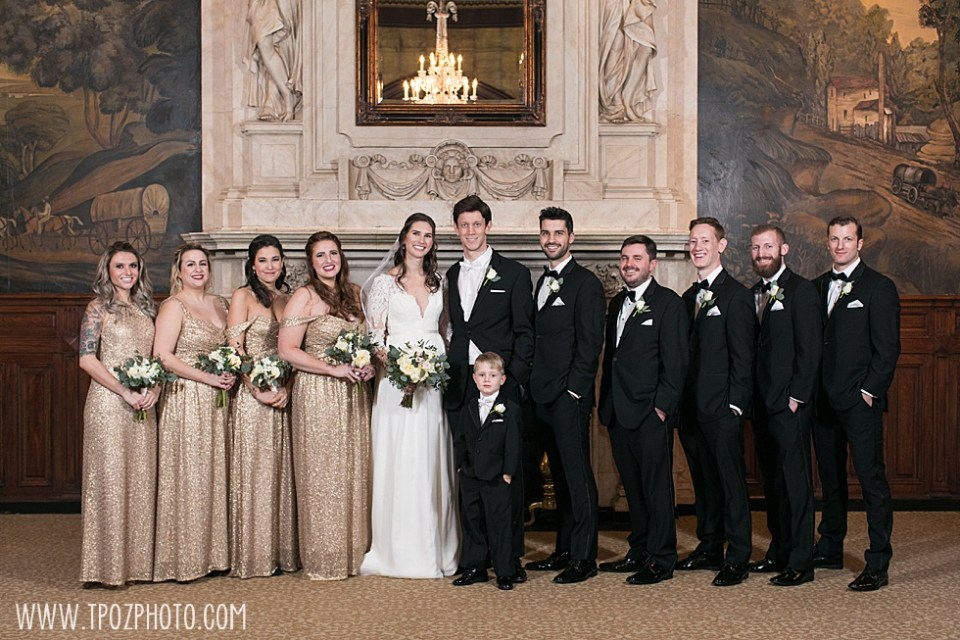 John Eager Howard Ballroom wedding party portraits
