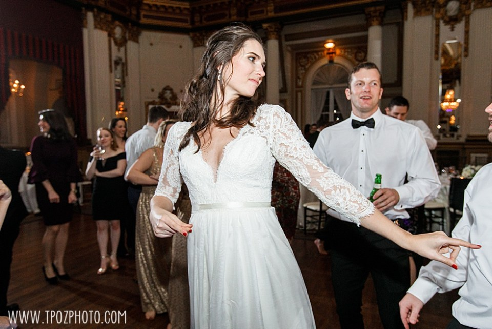 Bride dancing at Baltimore wedding reception