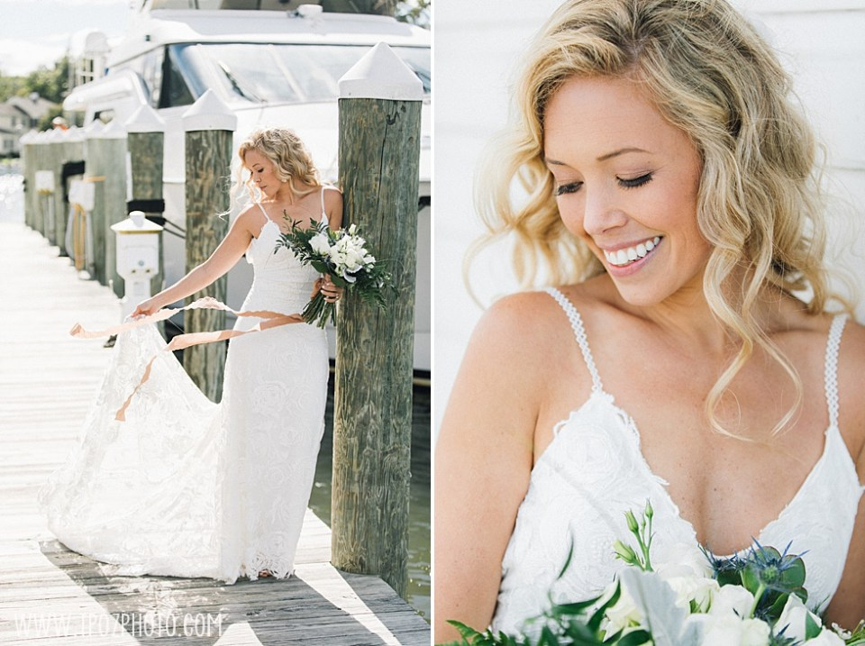 bride at St Michaels Harbor Inn