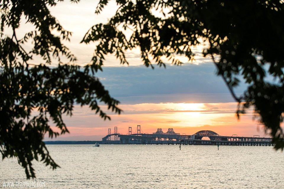 Sunset photos at the Chesapeake Bay Beach Club