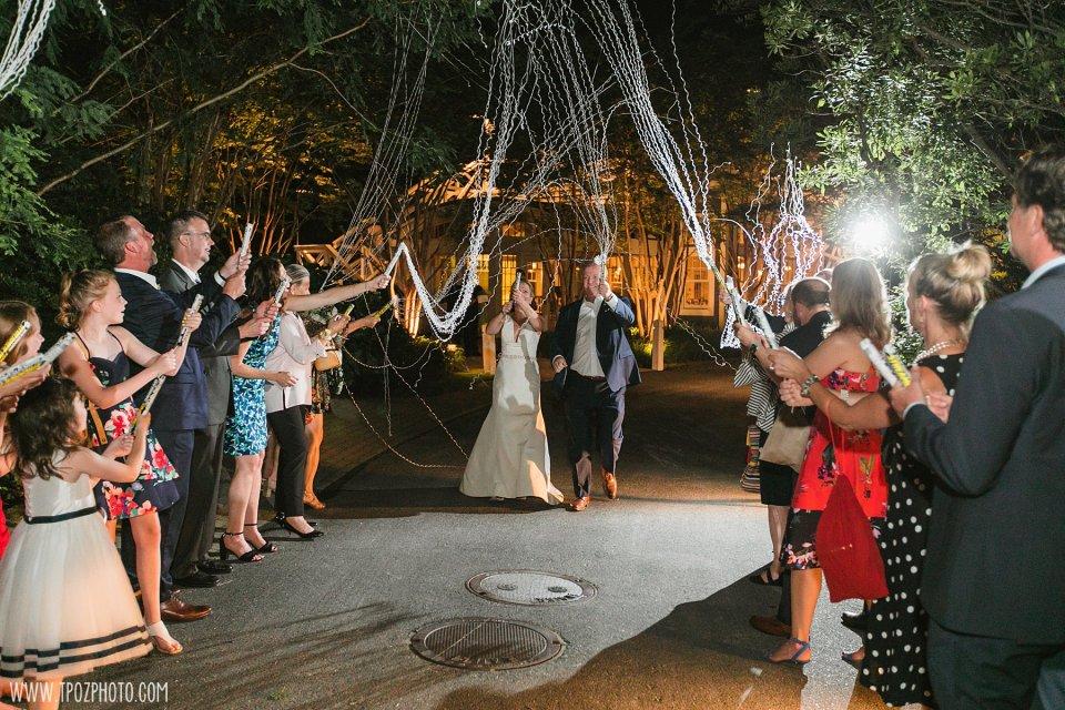 Chesapeake Bay Beach Club wedding streamers