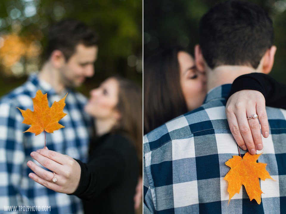 Wilde Lake Fall Leaves Engagement Session