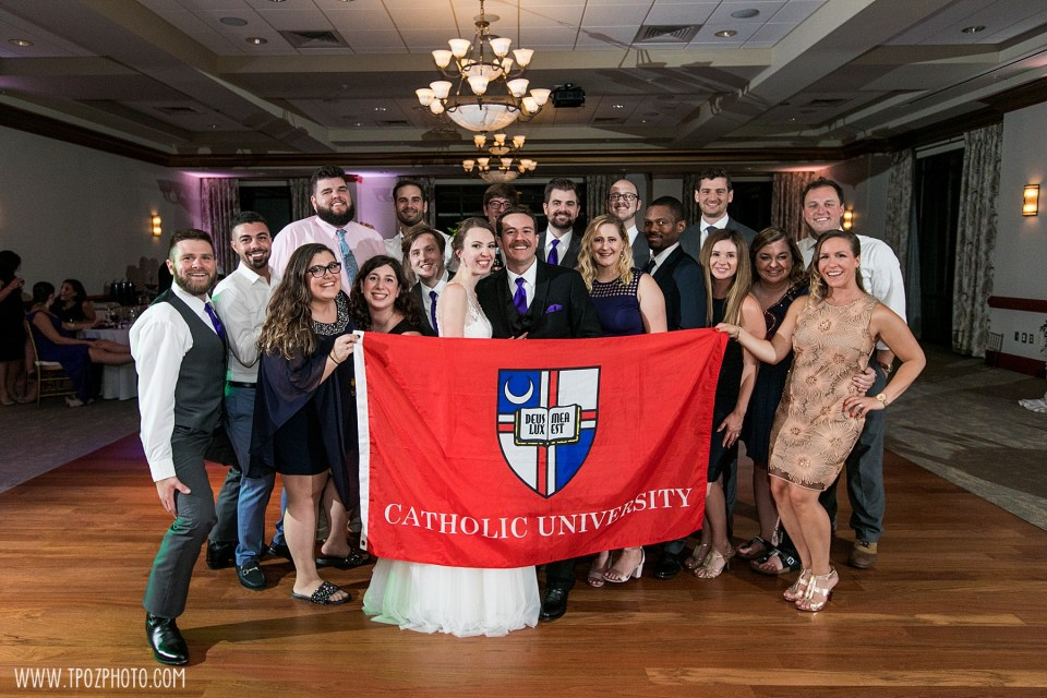 Catholic University alumni at a wedding