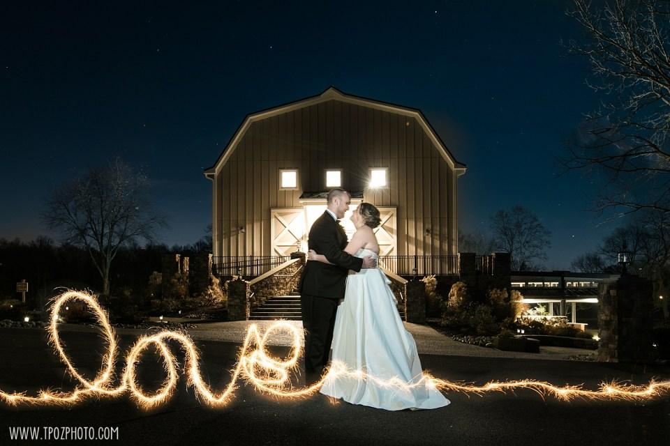 Sparkler Photos at a Rosewood Farms Wedding • tPoz Photography
